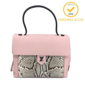 Louis Vuitton Handbag Purse Lockme MM Python